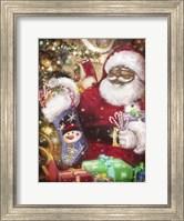 Framed Real Santa