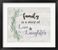 Framed Family Love 1