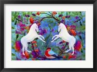 Framed White Horses In My Dream