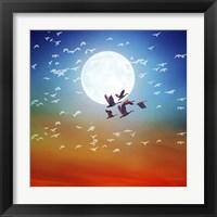 Framed Birds Flying 1