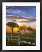 Framed Sundown Landscape