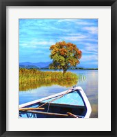 Framed Blue Boat