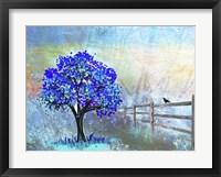 Framed Blue Tree