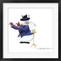 Framed Musical Snowmen Flute