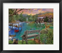 Framed Lakeside View from the bench