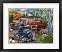 Framed American Roadside