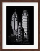 Framed Gooderham Flatiron Building And Toronto Downtown No 2