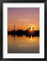 Framed Leslie Street Spit Toronto Canada Sunset