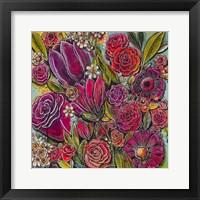 Framed Spanish Flowers 1