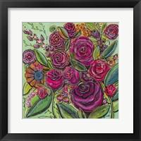Framed Spanish Flowers 2