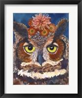 Framed Great Horned Owl