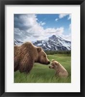 Framed Mother and Cub