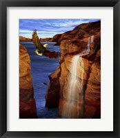 Framed Canyon Eagle