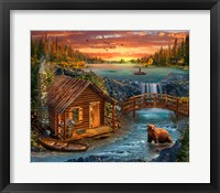 Framed River Cabin