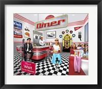 Framed Comet Diner