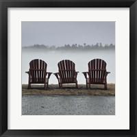Framed Adirondack Chairs and Fog