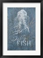 Framed Jellyfish on Blue