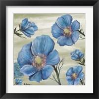 Framed Blue Poppies 1