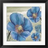 Framed Blue Poppies 2