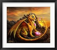 Framed Helia Golden Dragon