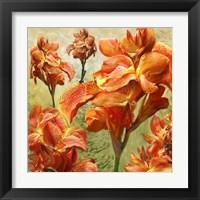 Framed Orange Orchid Bloom