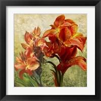 Framed Orange Orchid Passion 1