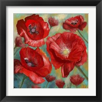 Framed Passionate Poppies 2