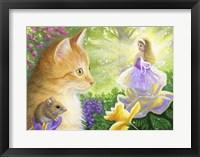 Framed Fairy In Gingers Garden