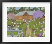 Framed Cabin Scene