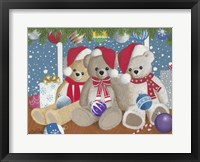 Framed Christmas Morning Teddys
