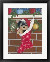 Framed Yorkie Stocking Stuffer