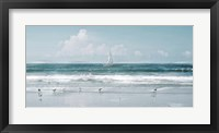 Framed Shore Birds and a Sailboat