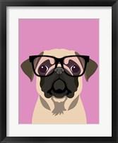 Framed Pug Pink