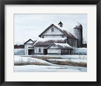 Framed White Barn
