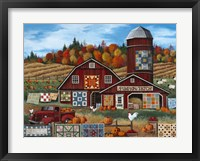 Framed Pumpkin Patch Farm