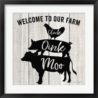 Framed Farm Signs I