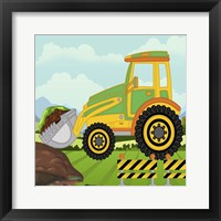 Construction Fun B Framed Print