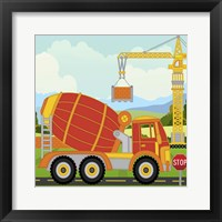 Construction Fun C Framed Print