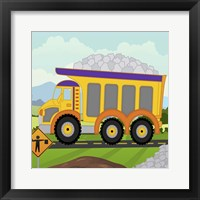 Construction Fun D Framed Print