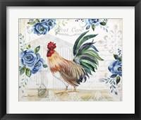Framed Seasonal Rooster 2