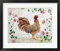 Framed Seasonal Rooster 3