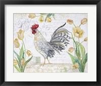 Framed Seasonal Rooster 4
