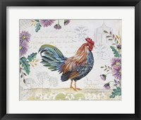 Framed Seasonal Rooster 5