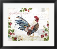 Framed Seasonal Rooster 6