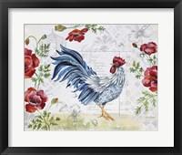 Framed Seasonal Rooster 7