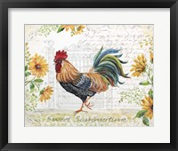 Framed Seasonal Rooster 8