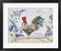 Framed Seasonal Rooster 9