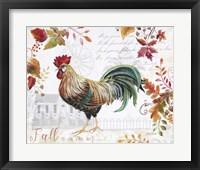 Framed Seasonal Rooster 11