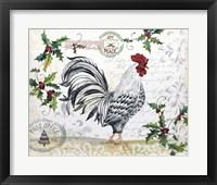 Framed Seasonal Rooster 12