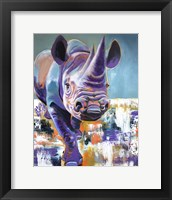 Framed Rhino - Mwaiseni